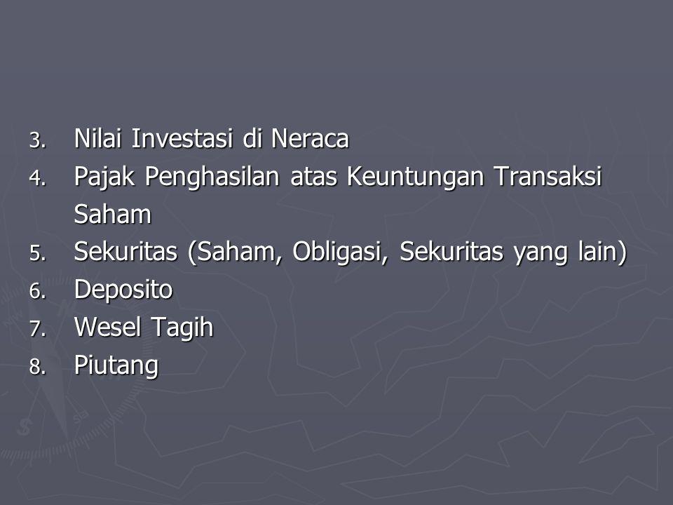 Nilai Investasi di Neraca