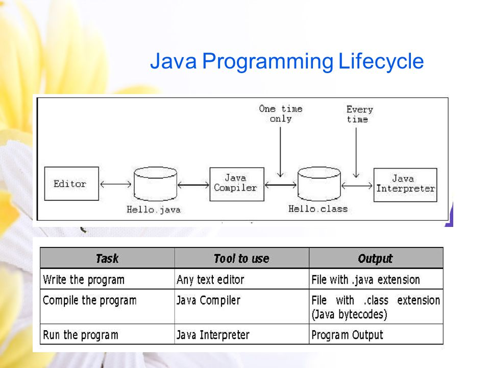 Java Programming Lifecycle