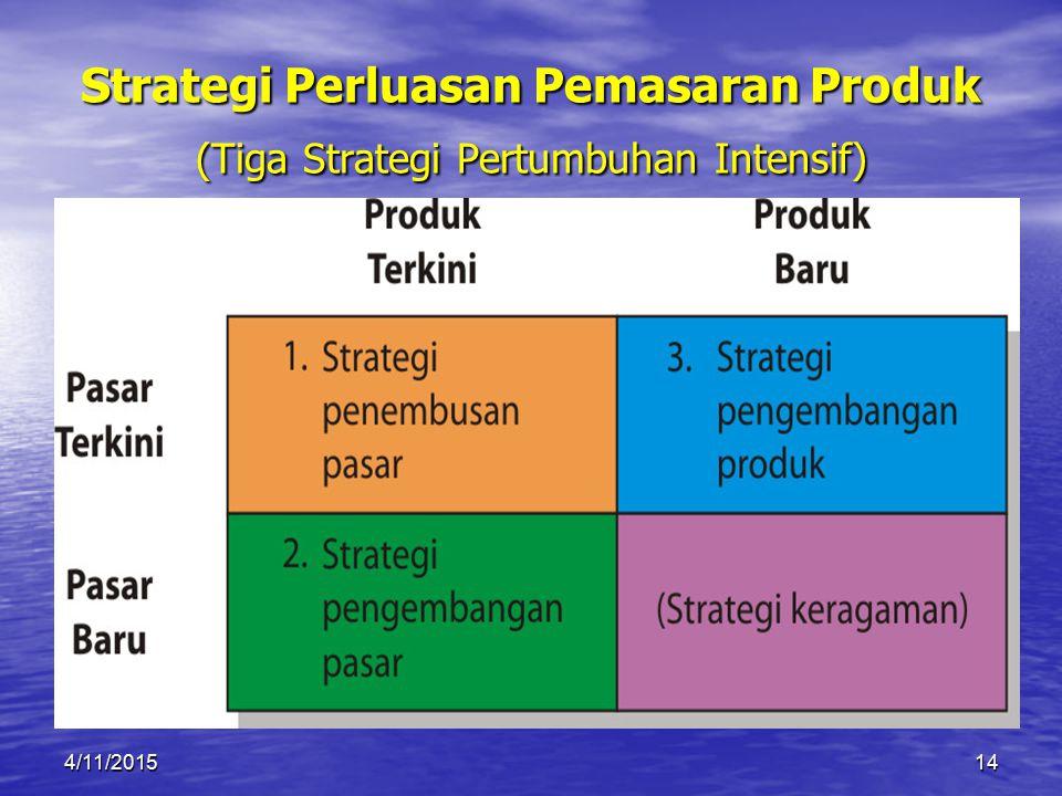 Strategi Perluasan Pemasaran Produk (Tiga Strategi Pertumbuhan Intensif)