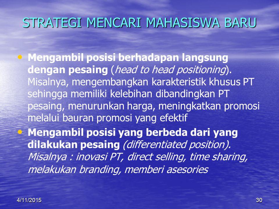 STRATEGI MENCARI MAHASISWA BARU