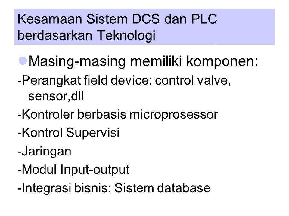 Kesamaan Sistem DCS dan PLC berdasarkan Teknologi