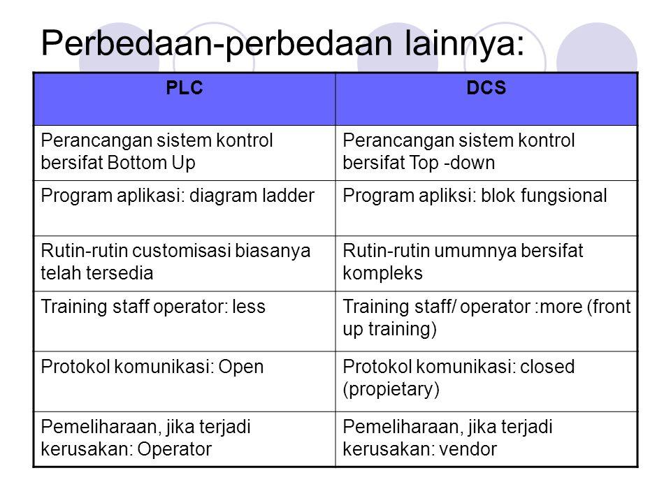 Perbedaan-perbedaan lainnya: