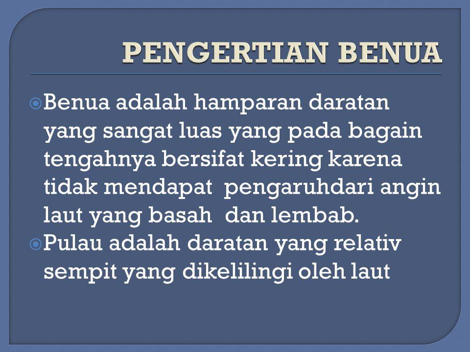 PENGERTIAN BENUA
