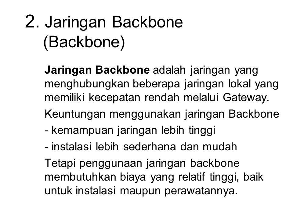 2. Jaringan Backbone (Backbone)