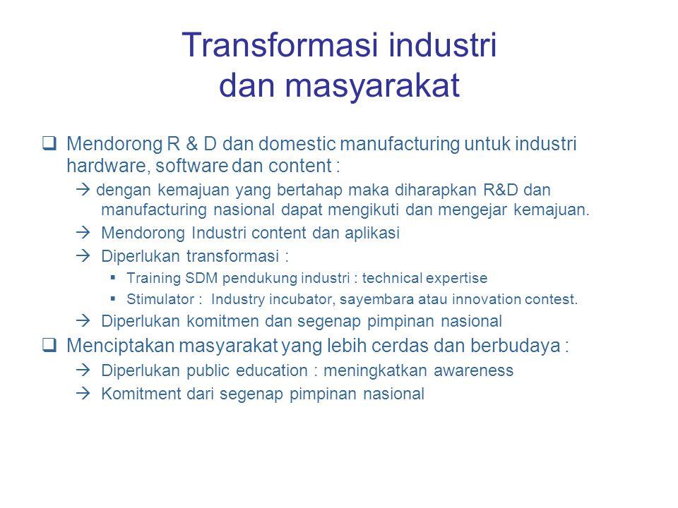 Transformasi industri dan masyarakat