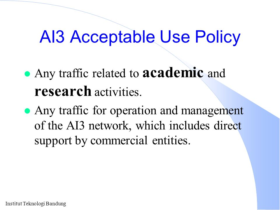 AI3 Acceptable Use Policy