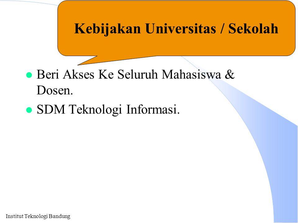 Kebijakan Universitas / Sekolah