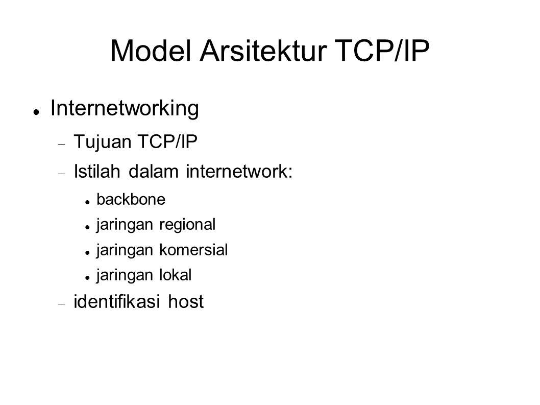 Model Arsitektur TCP/IP