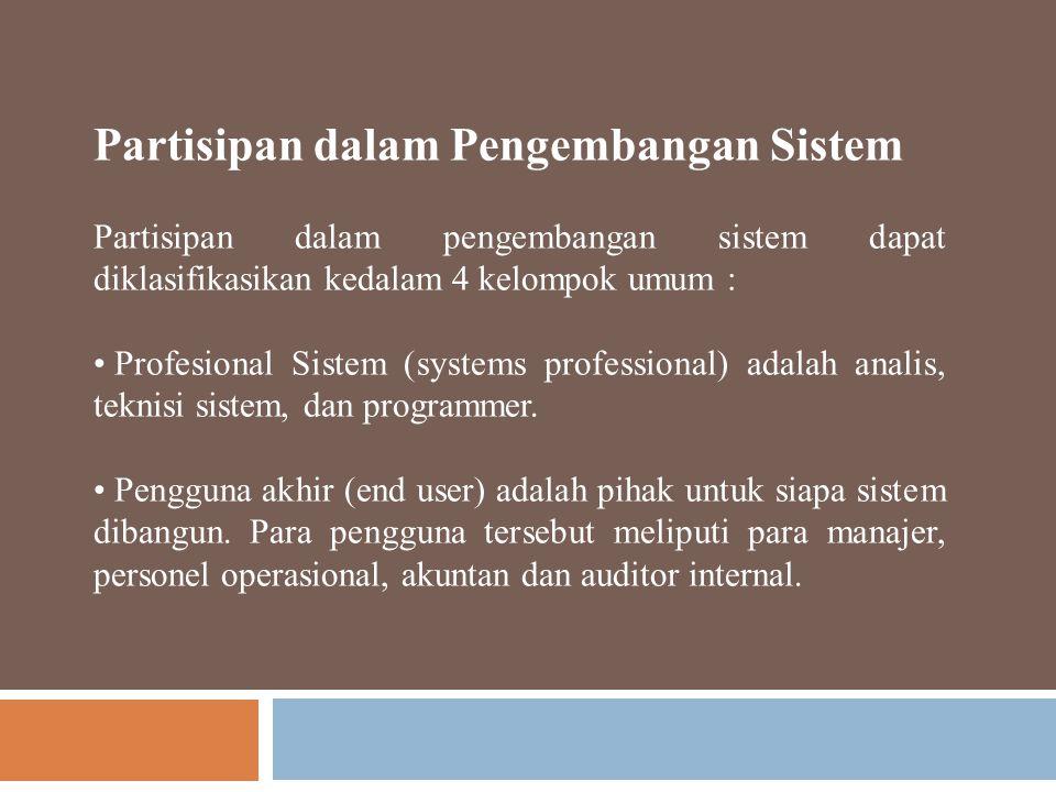 Partisipan dalam Pengembangan Sistem