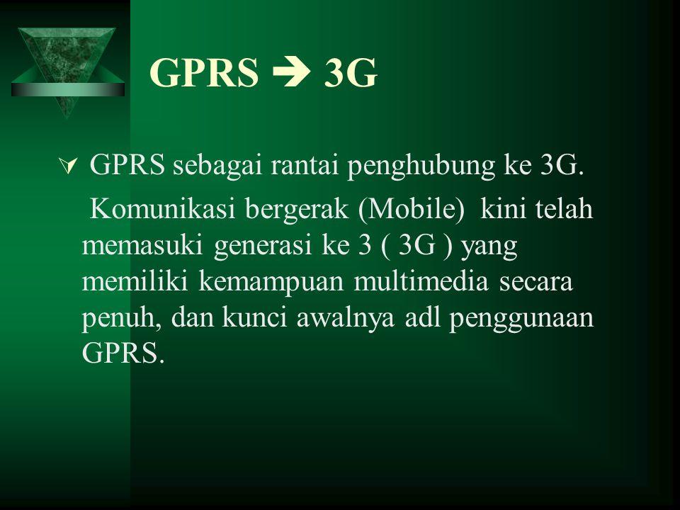 GPRS  3G GPRS sebagai rantai penghubung ke 3G.