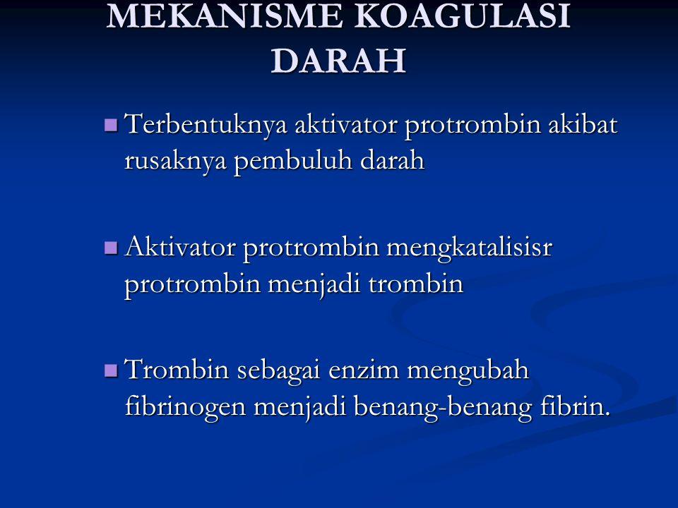 MEKANISME KOAGULASI DARAH
