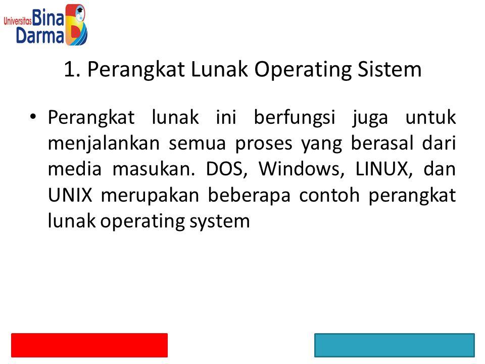 1. Perangkat Lunak Operating Sistem