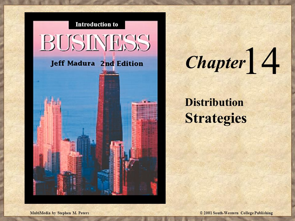 14 Chapter Distribution Strategies Introduction to