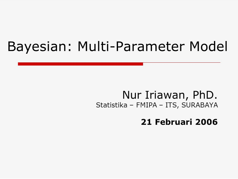 Bayesian: Multi-Parameter Model