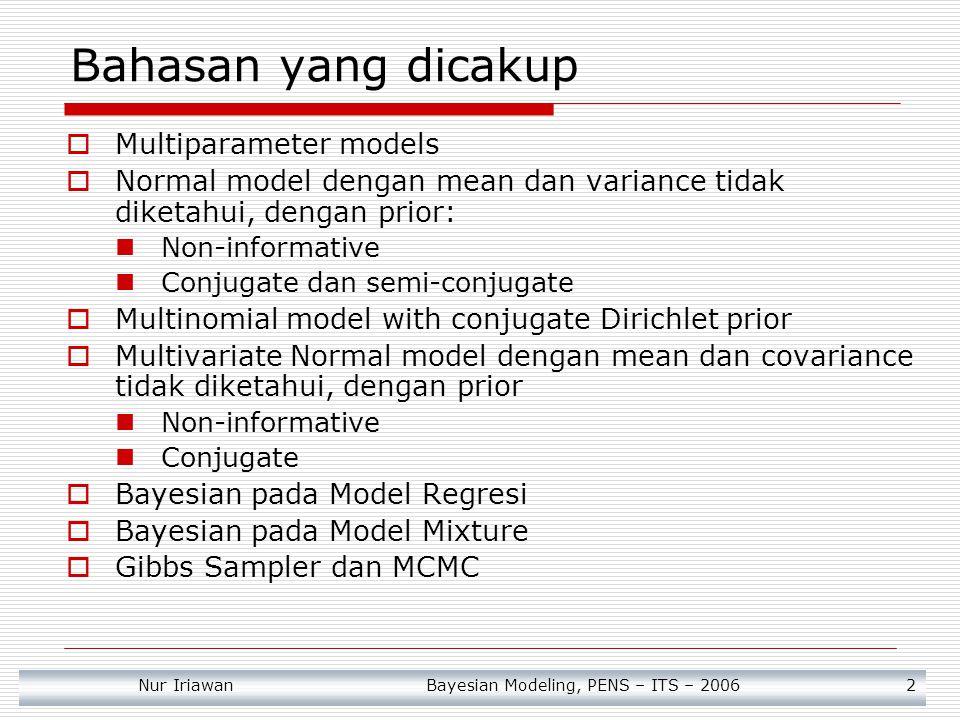 Bahasan yang dicakup Multiparameter models