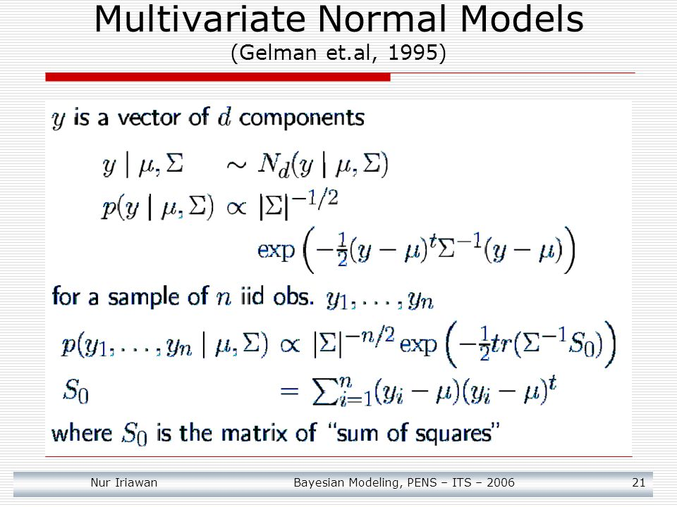 Multivariate Normal Models (Gelman et.al, 1995)