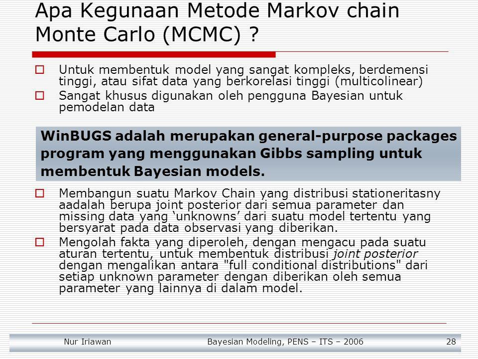 Apa Kegunaan Metode Markov chain Monte Carlo (MCMC)