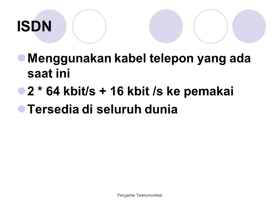 Pengantar Telekomunikasi