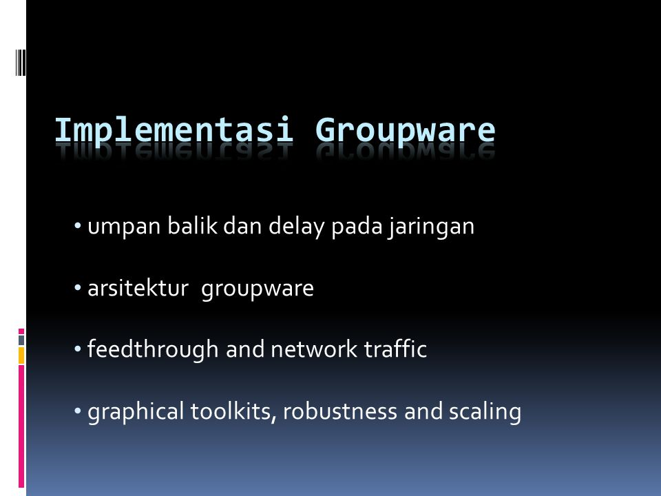 Implementasi Groupware