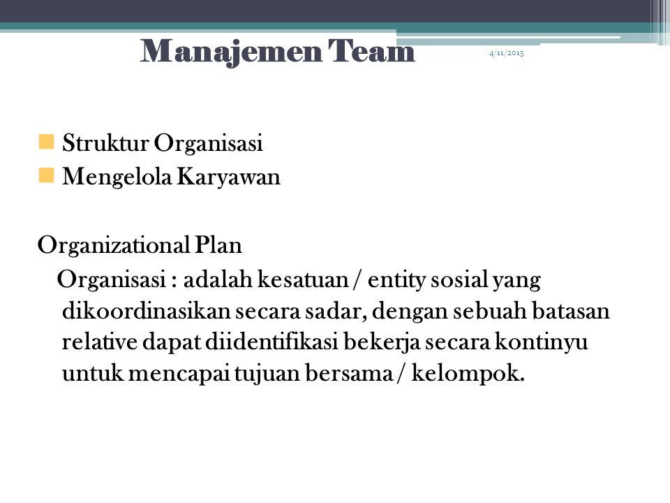 Manajemen Team Struktur Organisasi Mengelola Karyawan