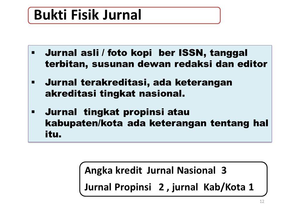 Bukti Fisik Jurnal Angka kredit Jurnal Nasional 3