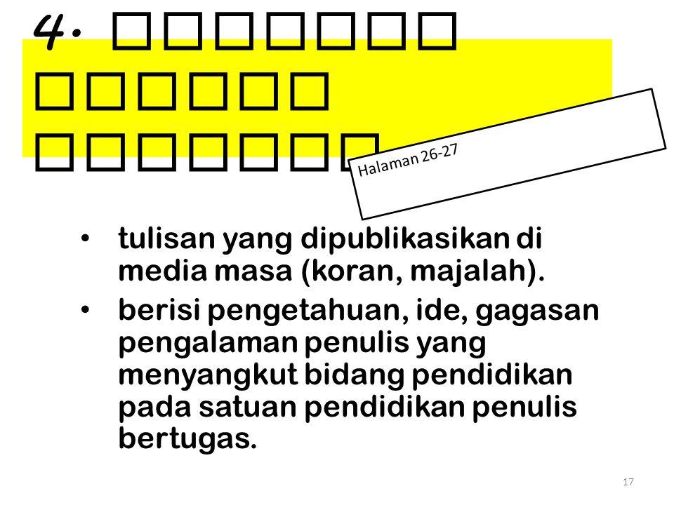 4. Tulisan Ilmiah Populer