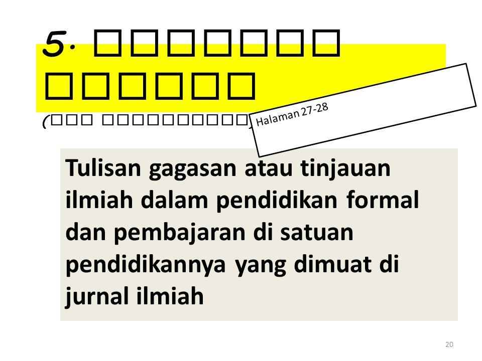 5. Artikel Ilmiah (non penelitian)