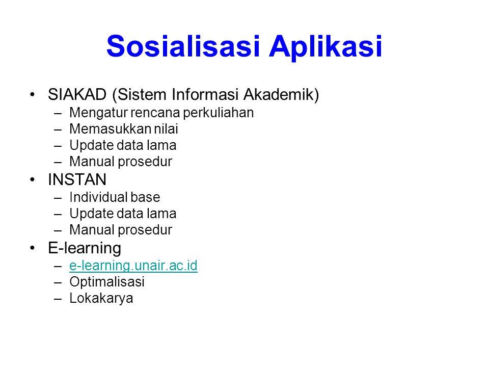 Sosialisasi Aplikasi SIAKAD (Sistem Informasi Akademik) INSTAN