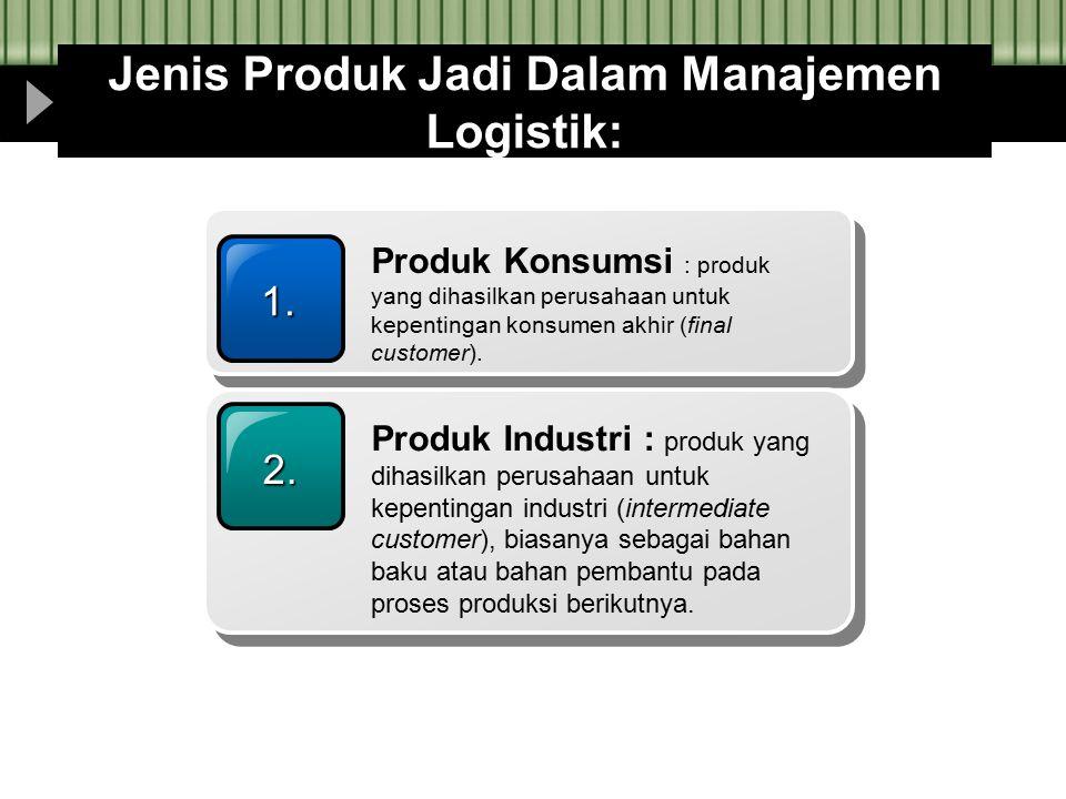 Jenis Produk Jadi Dalam Manajemen Logistik: