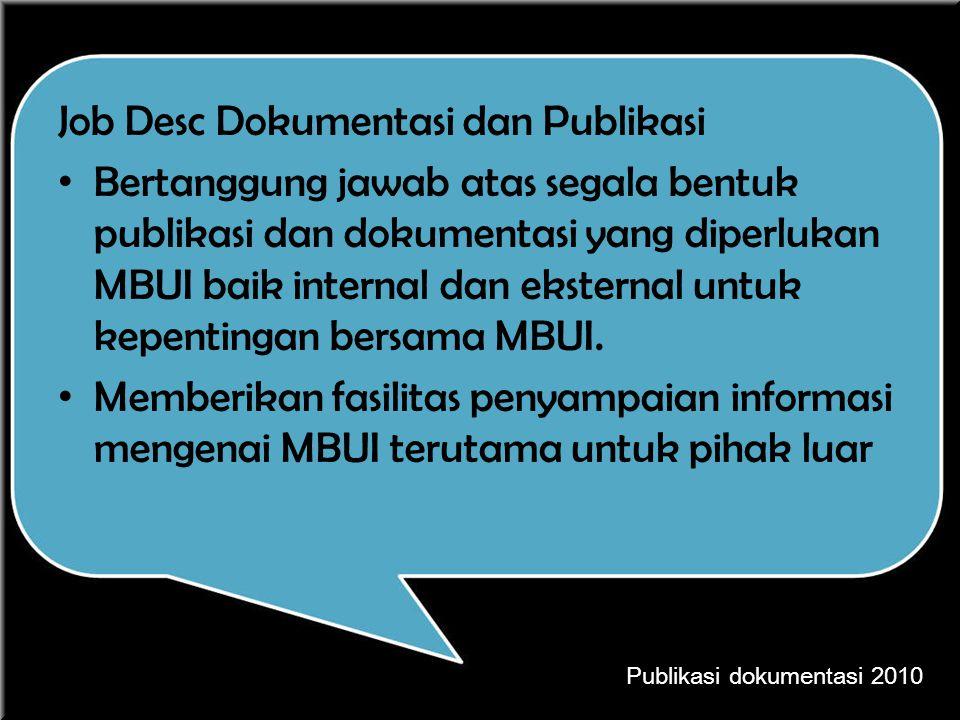 Job Desc Dokumentasi dan Publikasi