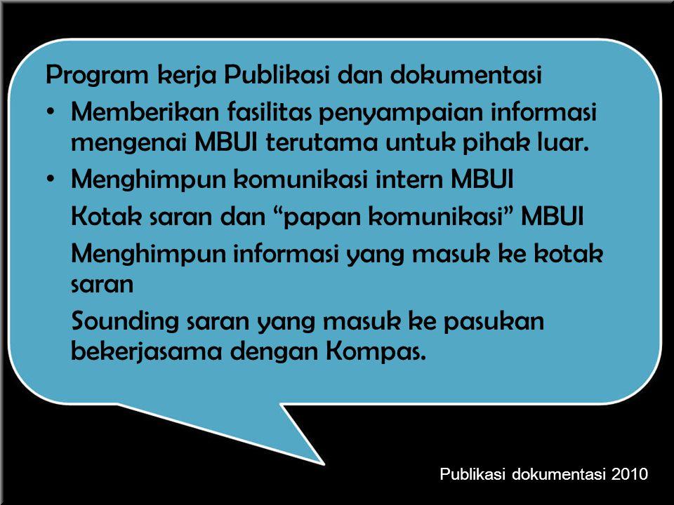 Program kerja Publikasi dan dokumentasi