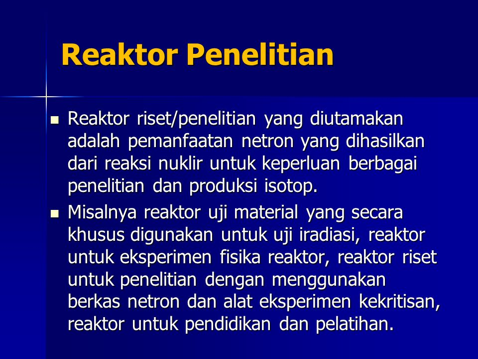 Reaktor Penelitian