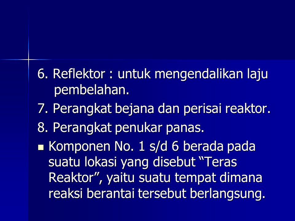 6. Reflektor : untuk mengendalikan laju pembelahan.