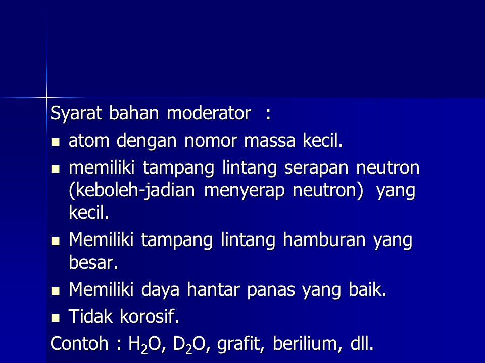 Syarat bahan moderator :