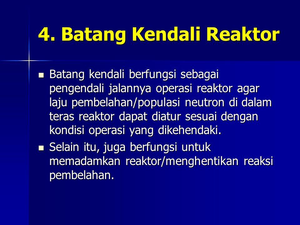 4. Batang Kendali Reaktor