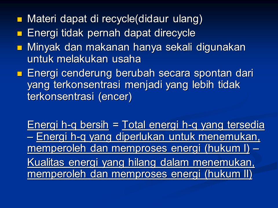 Materi dapat di recycle(didaur ulang)