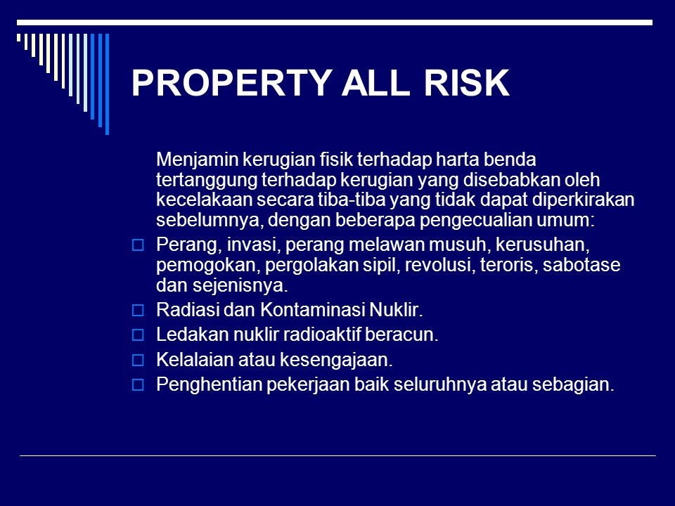 PROPERTY ALL RISK