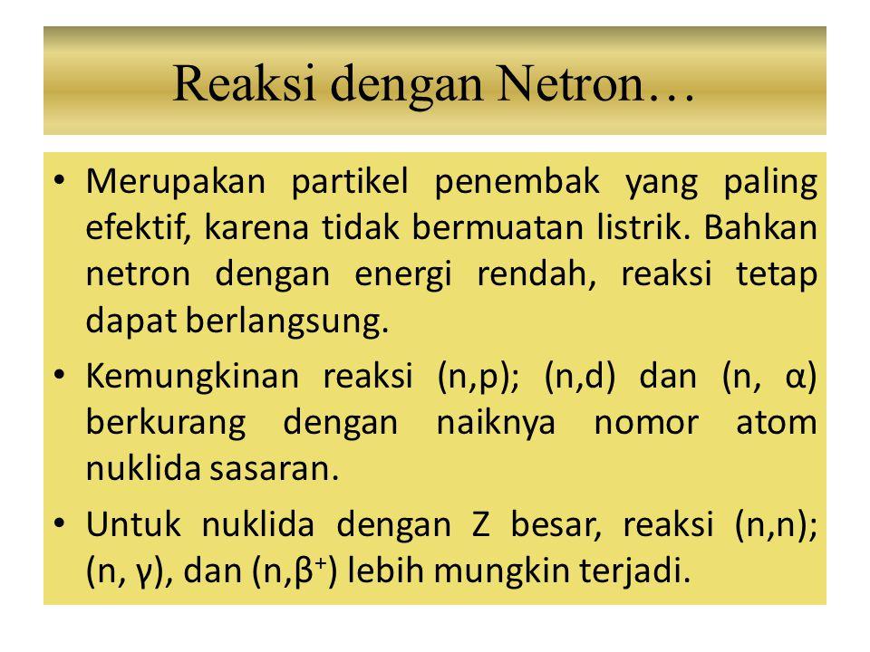 Reaksi dengan Netron…