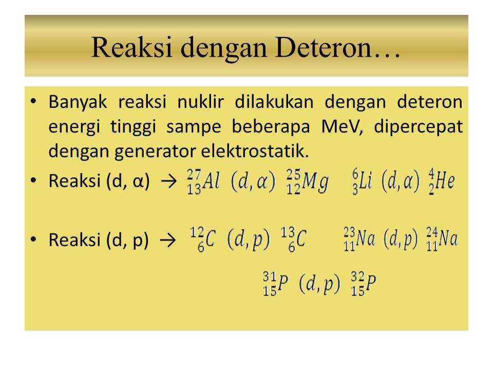 Reaksi dengan Deteron…