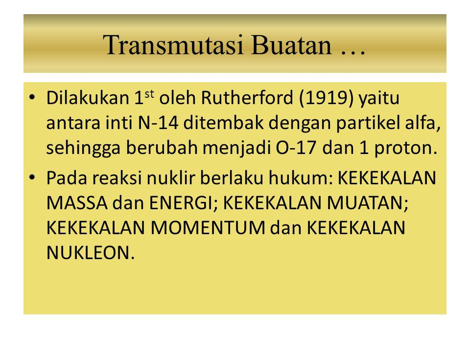 Transmutasi Buatan …