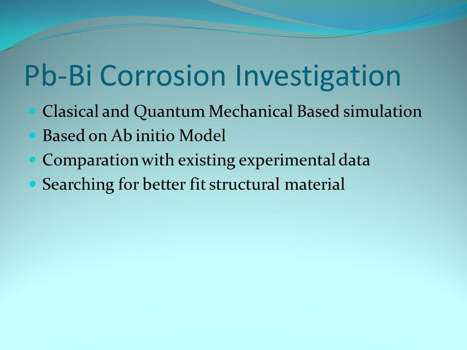 Pb-Bi Corrosion Investigation