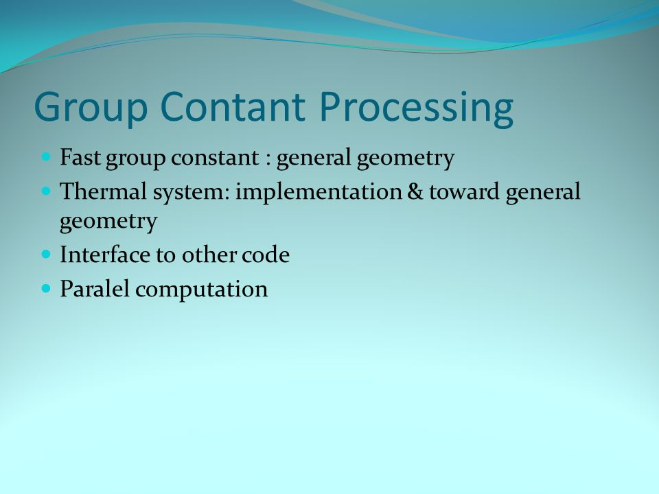 Group Contant Processing