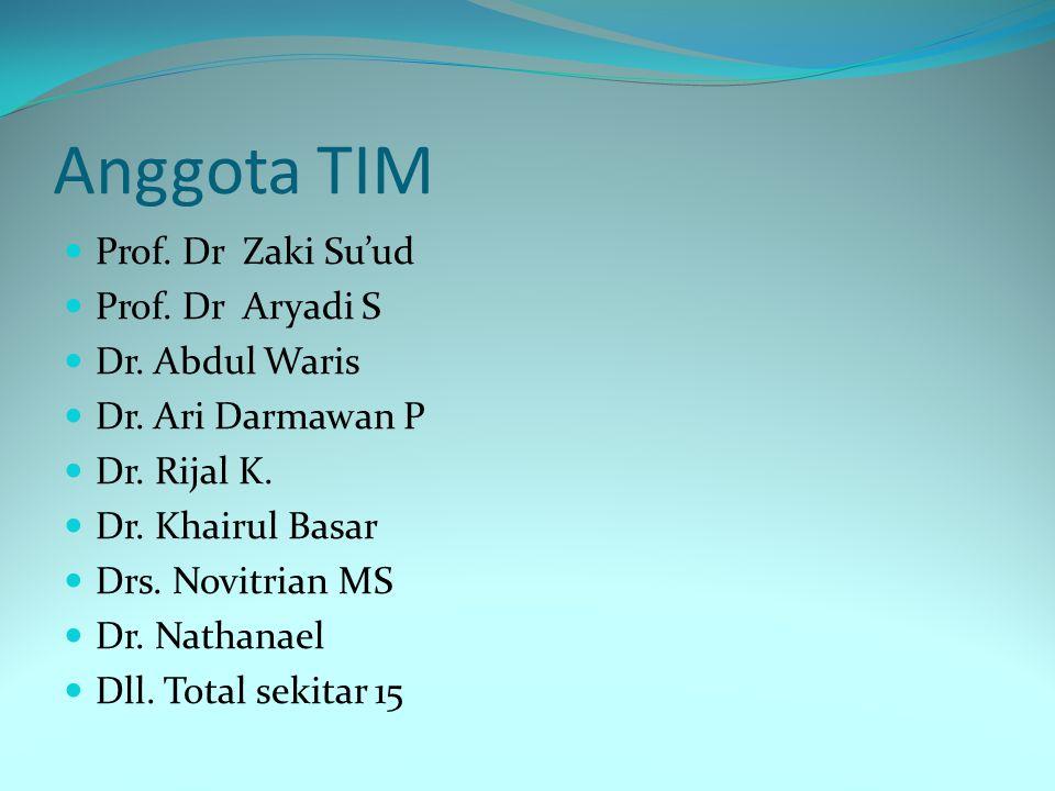 Anggota TIM Prof. Dr Zaki Su'ud Prof. Dr Aryadi S Dr. Abdul Waris