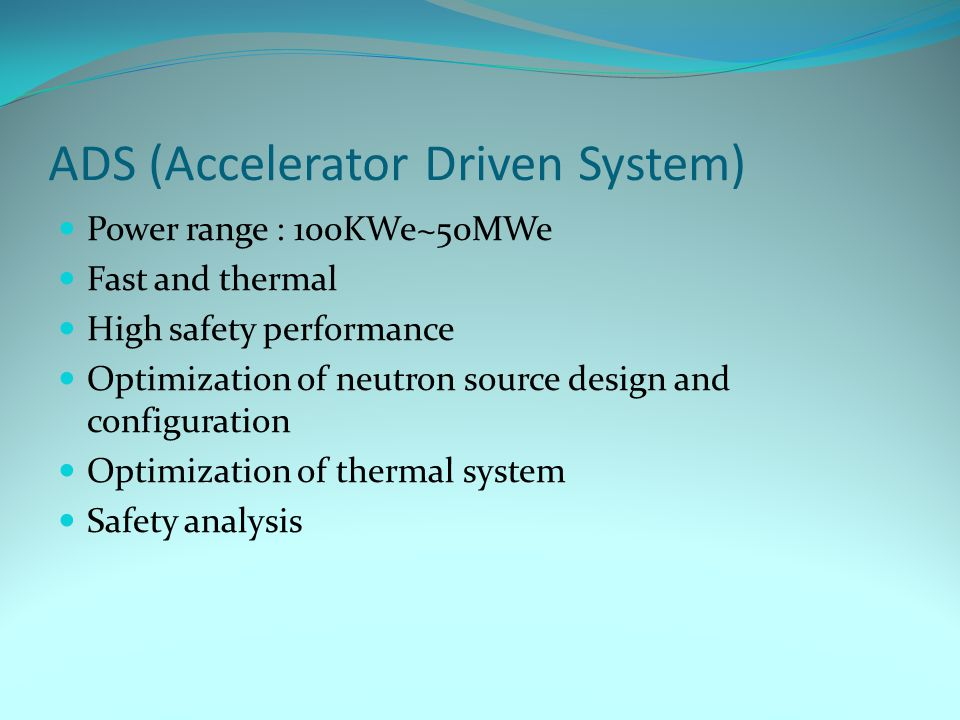 ADS (Accelerator Driven System)