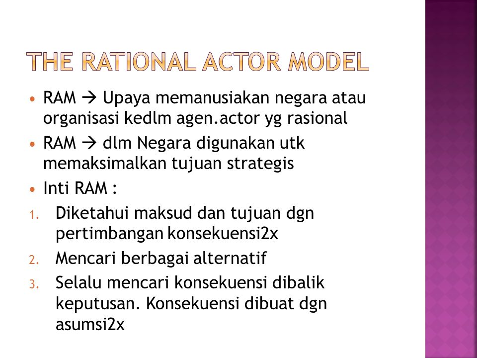 The Rational Actor Model