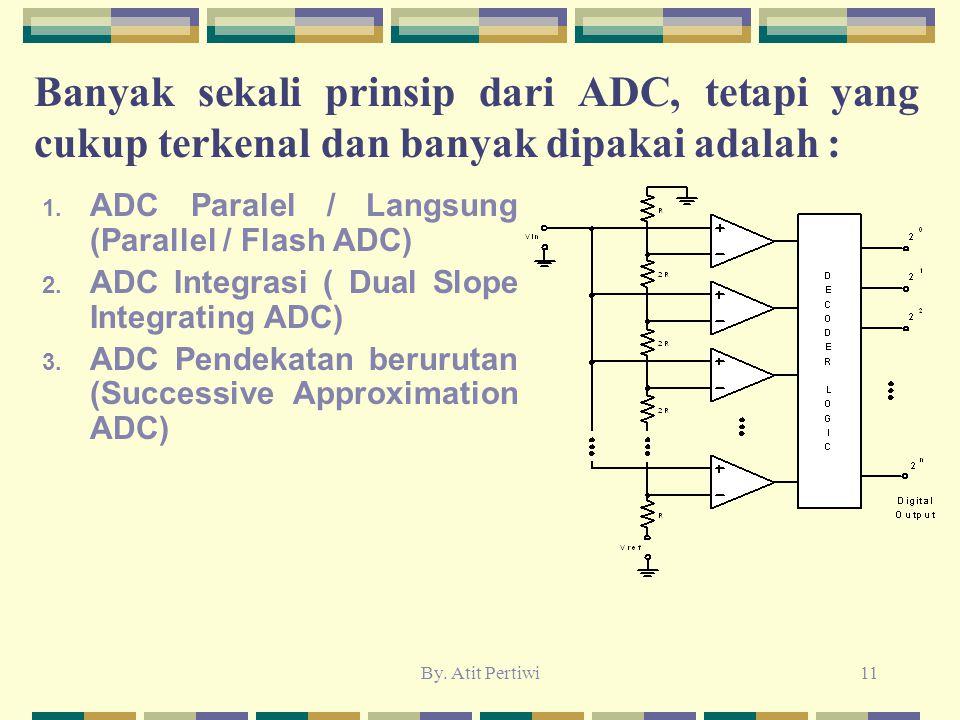 Banyak sekali prinsip dari ADC, tetapi yang cukup terkenal dan banyak dipakai adalah :
