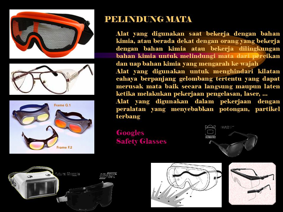 PELINDUNG MATA Googles Safety Glasses