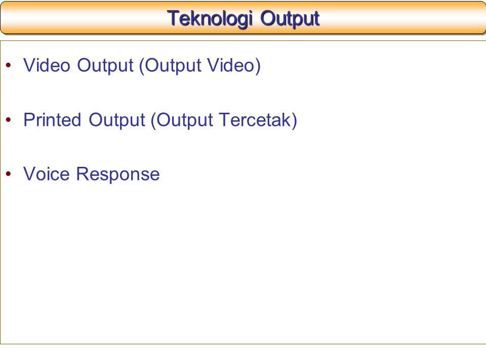 Teknologi Output Video Output (Output Video)