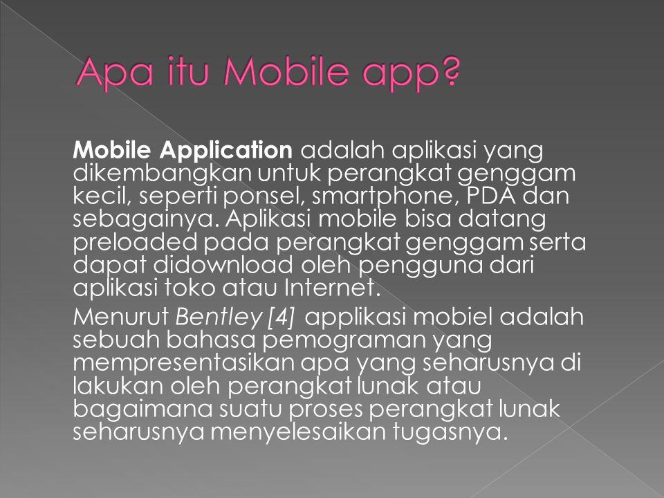 Apa itu Mobile app