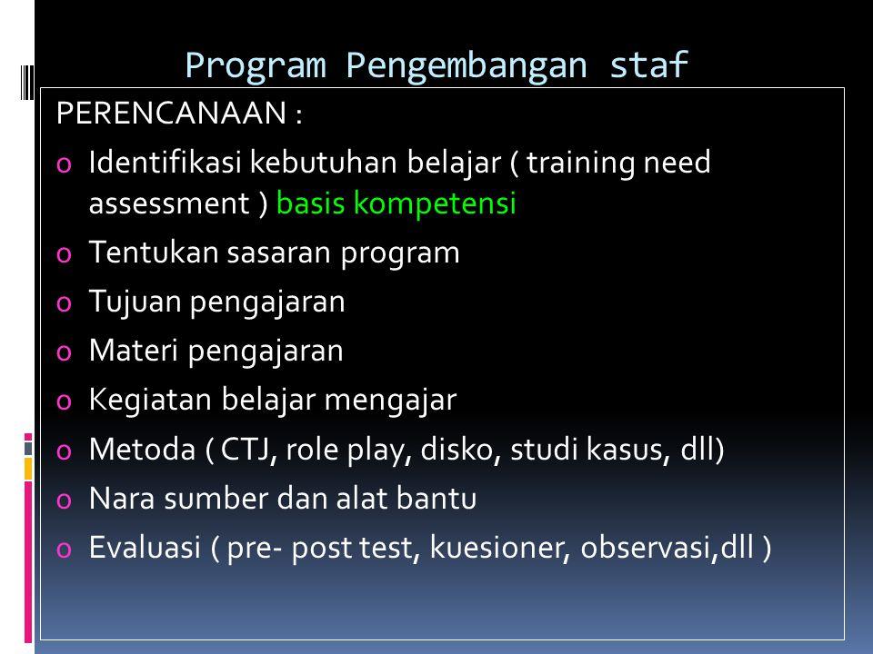 Program Pengembangan staf